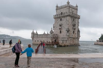 Und hier der Torre de Belem, ein Wahrzeichen der Stadt Lissabon.
