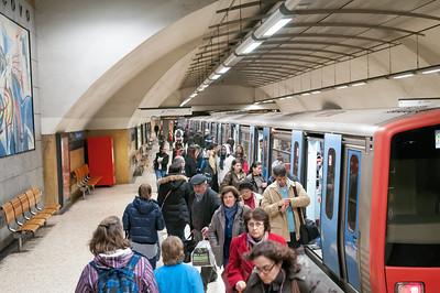 Die Metro scheint viel benutzt zu werden.
