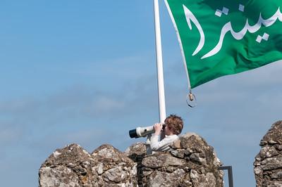 Auf der grünen Fahne steht Sintra in arabischen Buchstaben.