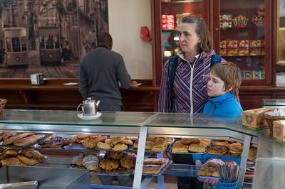 In den Bäckereien gab es viele leckere Sachen.