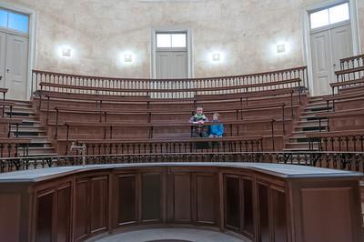 Der Vorlesungssaal für die Chemiker.