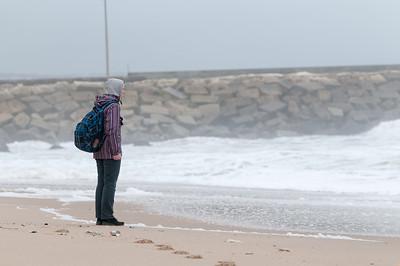 Am Strand von Ericeira. Die Wellen waren wirklich toll.