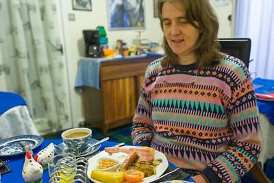 Auch am letzten Tag gab es natürlich ein schottisches Frühstück. Noch eine Woche und wir wären dick und rund gewesen.