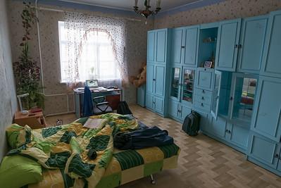 Mein Zimmer bei meiner Gastfamilie. Elena und Yuri sprechen nur ein wenig Englisch. Da muss man von Anfang an Russisch sprechen.