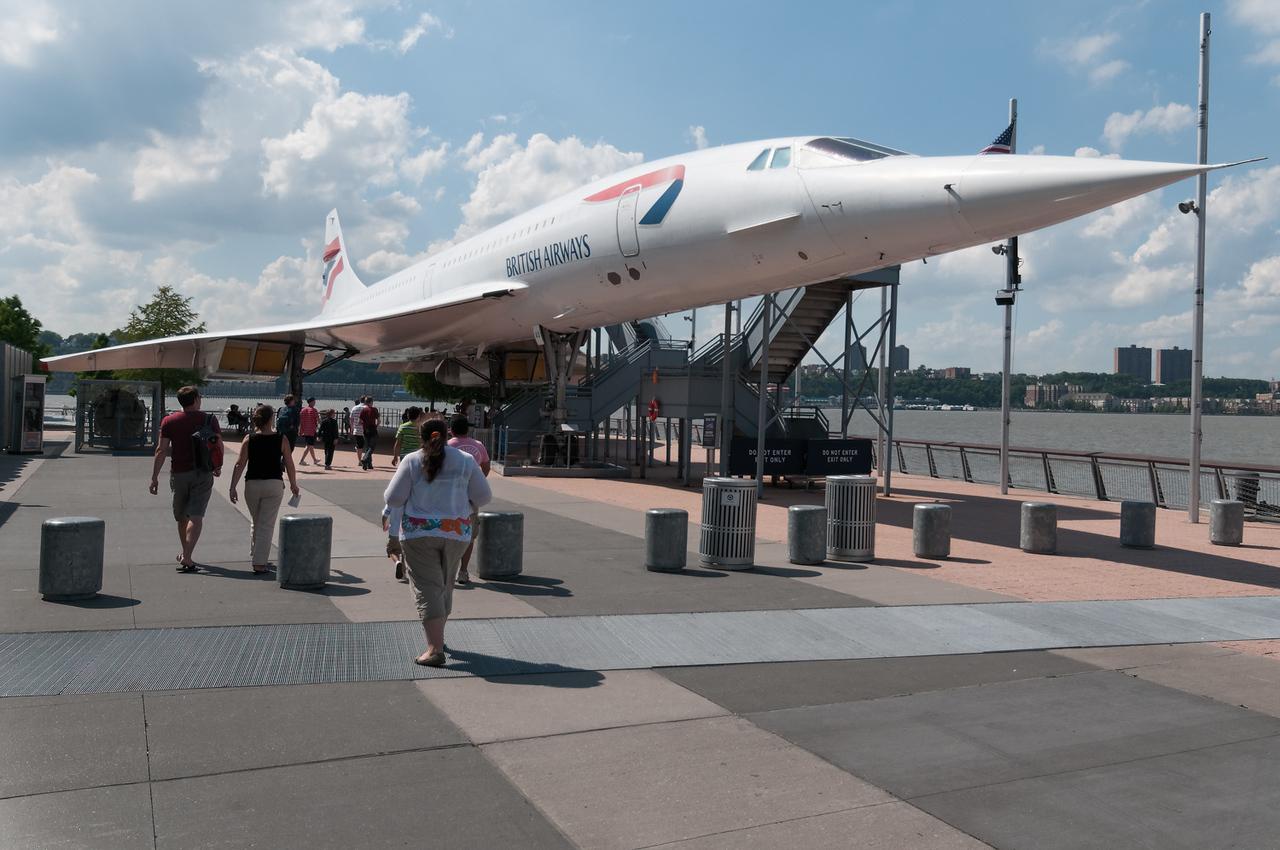 Unter den Flügeln der Concorde konnte man Kaffee trinken.