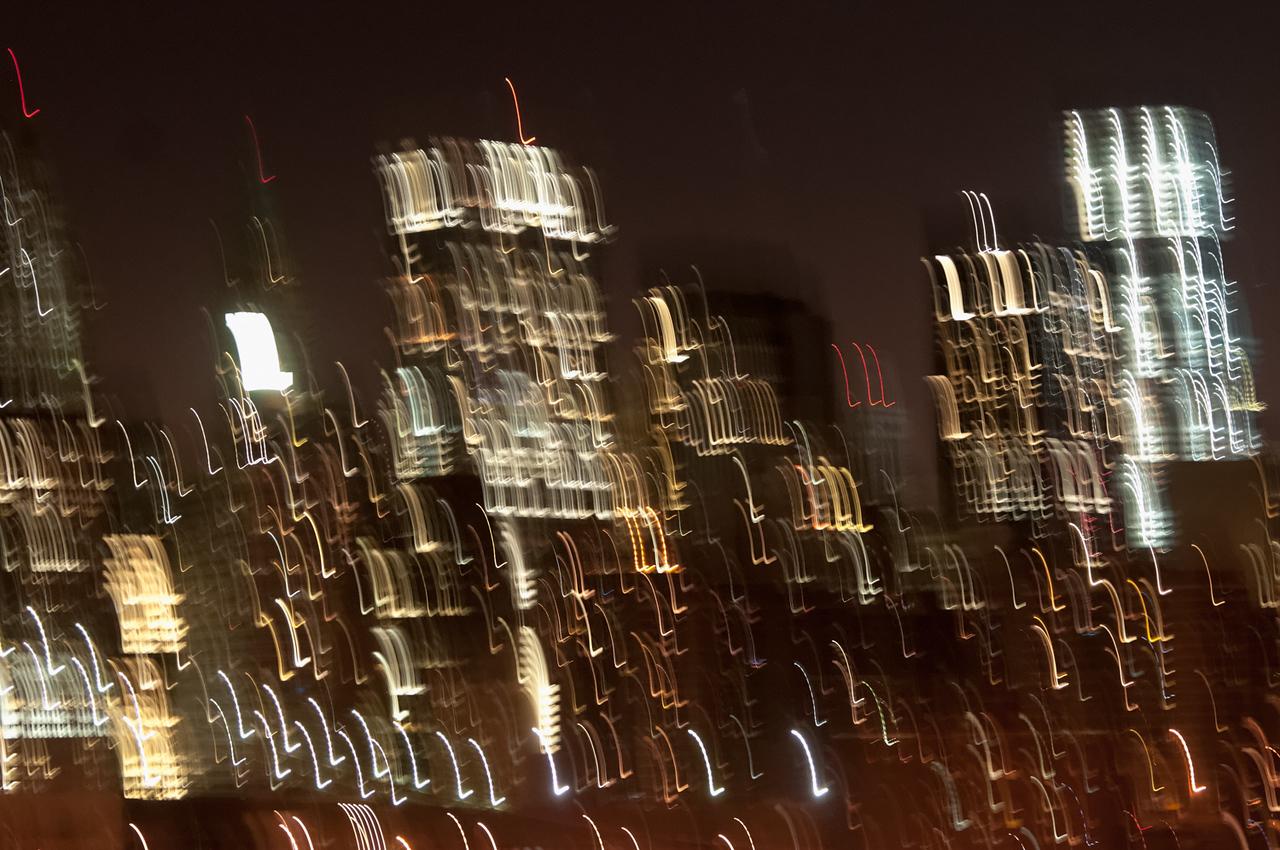 Die Skyline von New York von Brooklyn aus gesehen. Leider etwas verwackelt.