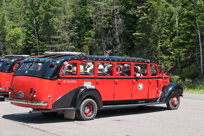 Von diesen Touristenbussen sahen wir viele. Wenn wir kein Auto gemietet hätten, wären wir auch damit gefahren.