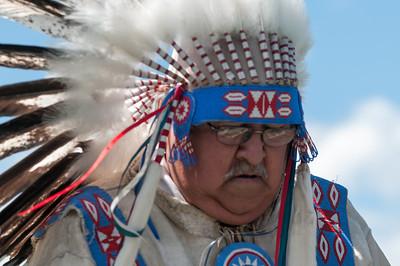 Auf dem Pow-wow zeigten die Indianer traditionelle Tänze. Hoffentlich funktioniert der Regentanz nicht!