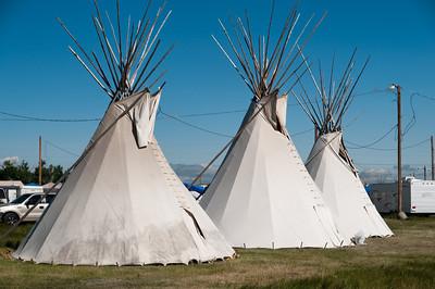 Auf dem Gelände der Native American Indian Days schliefen viele Indianer in traditionellen Tipis.