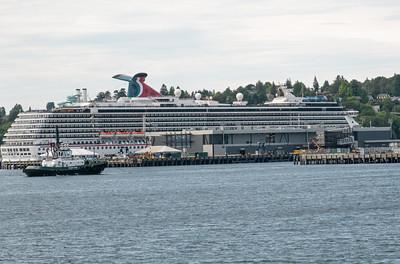 Seattle hat zwei Terminals für Cruise-Schiffe. Etwa 200 kommen jedes Jahr. Etwa so viele wie in Stavanger.