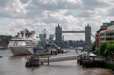 Die Queen Mary schafft es wahrscheinlich nicht bis London auf der Themse.