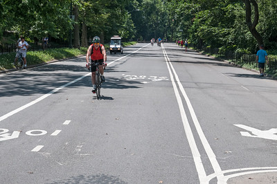 Im Central Park gibt es nicht viele Autos. Aber viele Fahrradfahrer und Läufer.