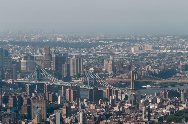 Die Brücken von Manhattan nach Brooklyn.