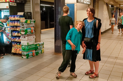 Auf dem Weg zum Ground Zero mussten wir noch die U-Bahn probieren.