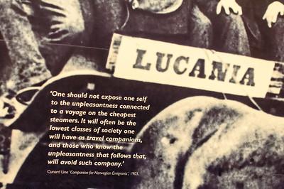 Mit der Lucania sind wohl auch viele Norwegen nach Amerika emigriert.