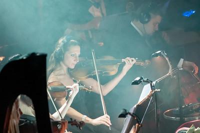 Das Orchester was aus kleineren Gruppen zusammengestellt, die tagsüber an verschiedenen Stellen auf dem Schiff spielen.