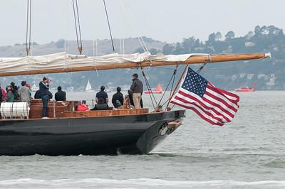 Ein Nachbau der America. Nach diesem Boot wurde der America's Cup benannt.