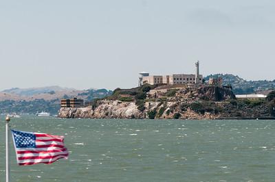 Die Rundfahrt in der Bucht war Klasse. Hier sieht man das Gefängnis von Alcatraz.