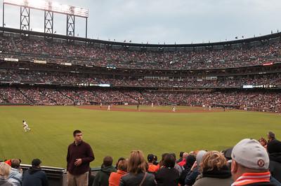 Am Abend gab es dann ein Baseballspiel. San Francisco Giants gegen die Cincinnati Reds.