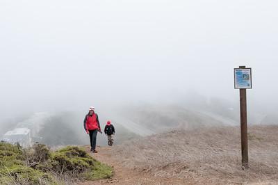 Oben auf den Twin Peaks war leider nichts als Nebel.