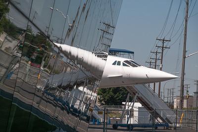 Schon die zweite Concorde auf dieser Reise.