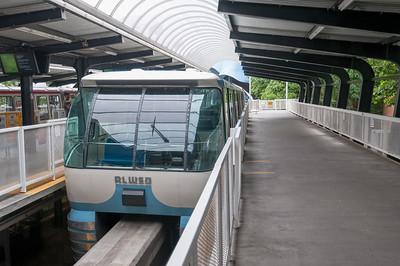 Die Monorail. Etwa 2km lang vom Zentrum zum Seattle Center.