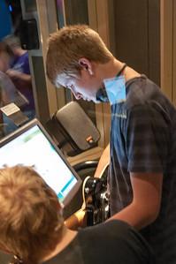 Im Museum konnten die Kinder viele Instrumente probieren. War ein Riesenspass.