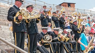 Wir durften sogar im Amfitheater in Verona spielen! Zusammen mit dem Kampen Orchester aus Oslo.