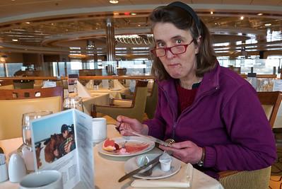 Wir waren so früh an Bord, dass wir sogar noch zu Mittag essen konnten.
