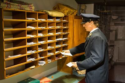 Die Poststelle eines alten Hurtigrutenbootes.