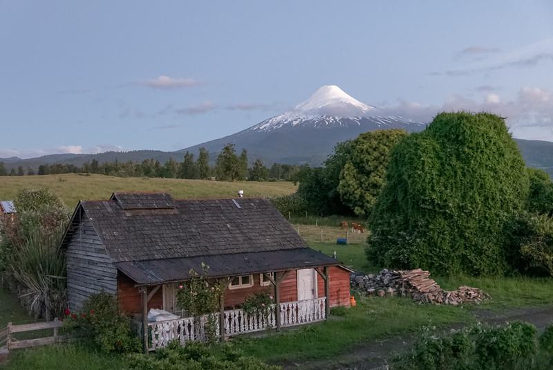 Um 1000 am Abend war der Osorno endlich wolkenfrei.