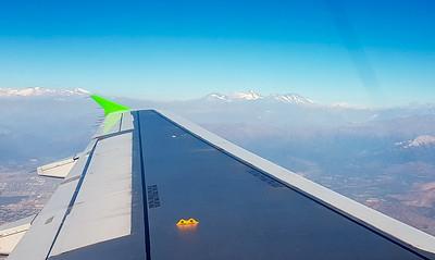 Auf dem Flug nach Temuco hatten wir eine tolle Aussicht auf die Berge.