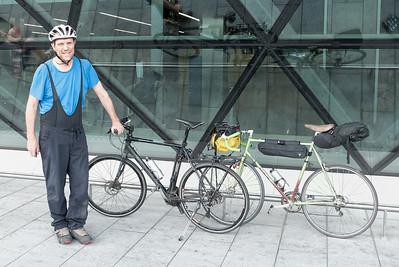 Ludwig hat mein Tourenrad für die Reise genommen.