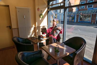 Frühstück gab es am zweiten Tag in einem Café.