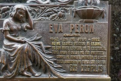 In Recoleta ist auch Evita Peron begraben.