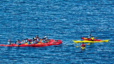 Die erste Kayak Tour in der Nähe von Enterprise Island.
