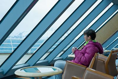 Auf dem Aussichtsdeck haben wir oft gesessen und die Aussicht bei einer Tasse Kaffee genossen.