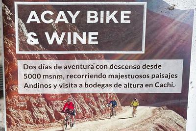 Diese Radtour von einem fast5000m hohen Pass (Abra del Acay) kann man buchen. Den gleichen Pass bin ich 1990 hoich gefahren!