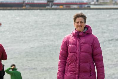 Ushuaia. Unser Boot, die Midnatsol,  im Hintergrund.