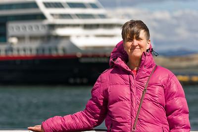 Die Temperaturen in Ushuaia waren ganz ok, aber durch den starken Wind war es unangenehm kalt.