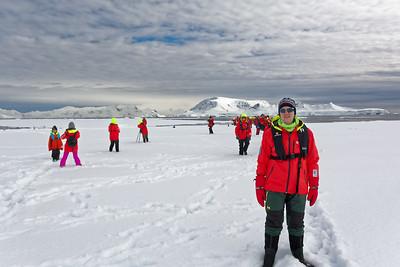 """""""Young"""" Explorers auf einen Eisscholle."""