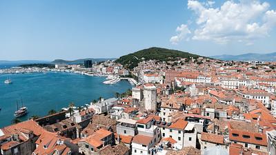 Die Aussicht von der Kirche in Split.