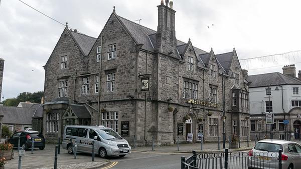 In diesem netten Hotel in Llangefni habe ich gewohnt.
