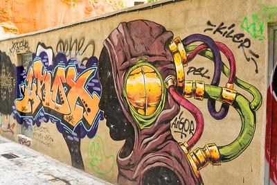 Graffities findet man in der Altstadt überall.