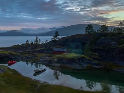 Sonnenaufgang kurz vor Bodø.