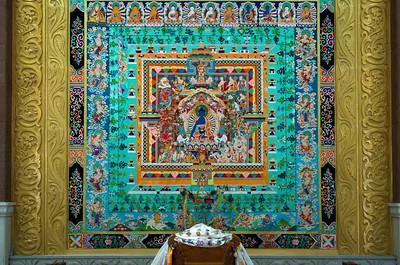 29. Juni 2013, Qinghai Tibetan Culture Museum in Xining (Medizin-Buddha)
