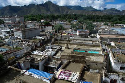 Blick aus Lhasa Hotel