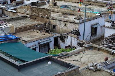 Blick vom Tsedang Hotel, Lhasa