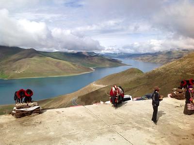 Kampa La (Pass 4500m) Blick zum Yamzhog Yumco (Heiliger See)