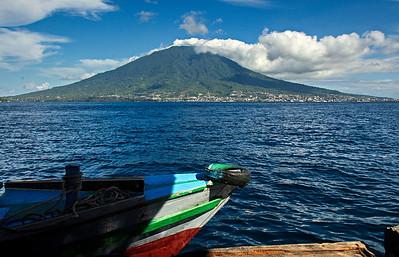 Tidore - view to Ternate
